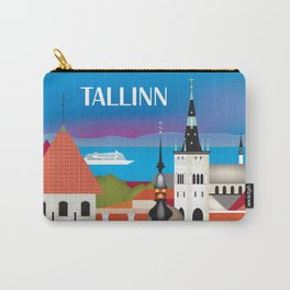Tallinn, Estonia - Skyline Illustration by Loose Petals Carry-All Pouch