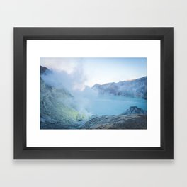 Kawah Ijen, Indonesia Framed Art Print