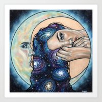 celestial Art Prints featuring Celestial  by Wendy Ortiz