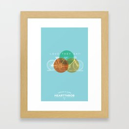Love They Say Framed Art Print