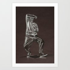 Black and White Drawing Art Print