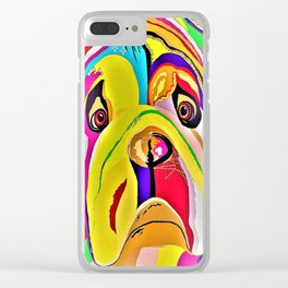 Bulldog Close-up Clear iPhone Case