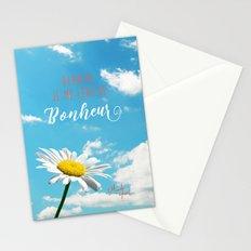 Demain je me lève de bonheur Stationery Cards