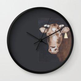 Gold Earring - Cow portrait Wall Clock