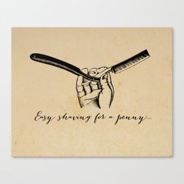 Sweeney Todd - Easy Shaving for a Penny - Demon Barber Canvas Print