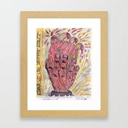Carve ur heart out Framed Art Print