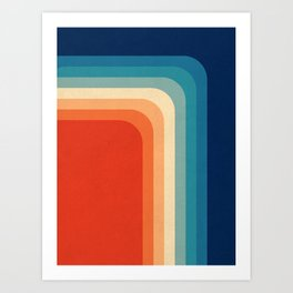 Retro 70s Color Palette III Art Print