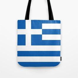 Flag of Greece, High Quality image Tote Bag