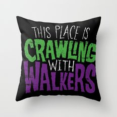 Crawling Walkers Throw Pillow