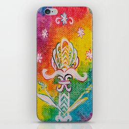 Leaves on the World Tree: Assyrian Tree of Life with Jasmine and Barley iPhone Skin