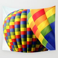 balloons Wall Tapestries featuring Balloons  by Rob Hawkins Photography