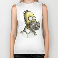 simpson Biker Tanks featuring Homer Simpson [File Photo] by ieIndigoEast