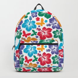 Hibiscus Pattern Backpack