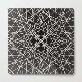 Line art black Metal Print