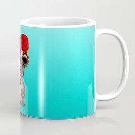 Red Day of the Dead Sugar Skull Baby Platypus Coffee Mug