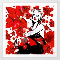 marilyn Art Prints featuring Marilyn by Saundra Myles