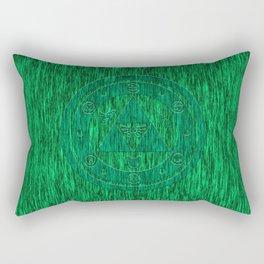 Zelda Green Art Triforce Rectangular Pillow