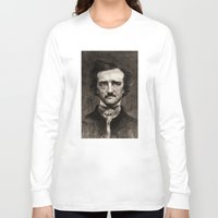 edgar allan poe Long Sleeve T-shirts featuring EDGAR ALLAN POE by Jason Seiler