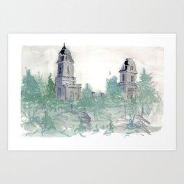Manti Temple Art Print