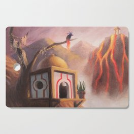The Guardian of the Ember's Watchtower Cutting Board