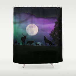 Creatures of Habit Shower Curtain