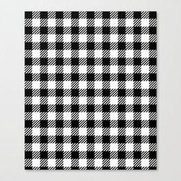 Black & White Vichy Canvas Print