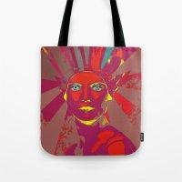 medusa Tote Bags featuring MEDUSA by Julia Lillard Art