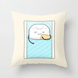sweet dreams, sleepy tea bag Throw Pillow