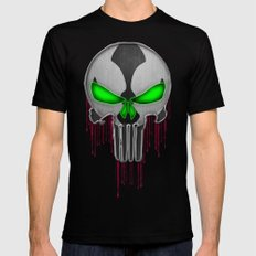 Punisher Spawn Mash-Up Black LARGE Mens Fitted Tee