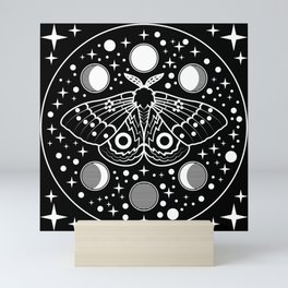 Moth in the Moon Light Mini Art Print