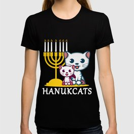 Hanukcats Jew And Pun Fan Gift T-shirt