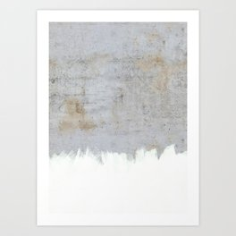 Painting on Raw Concrete Art Print