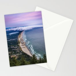 A Crescent Shaped Beach From High Atop Neahkahnie Mountain in Oswald West State Park, Oregon Stationery Cards