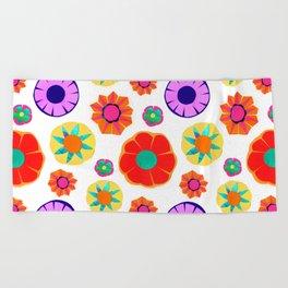 Flower Pattern Beach Towel