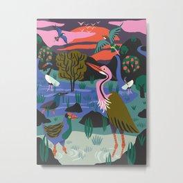 Bird Reserve Metal Print