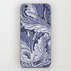 Acanthus Nouveau Style in Blue iPhone & iPod Skin