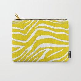 Zebra Golden Yellow Carry-All Pouch