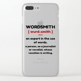 Wordsmith by C.E.O. - S.B.E. Clear iPhone Case