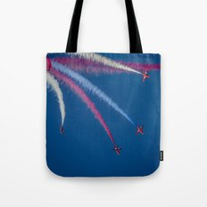 Red Arrows 1,2,3,  Tote Bag