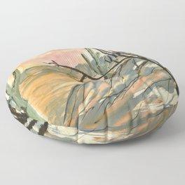 Southwestern Art Desert Painting Floor Pillow