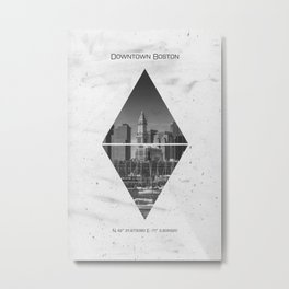 Coordinates BOSTON Downtown Metal Print