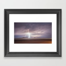 Lightning Strike, Black Rock Desert, NV Framed Art Print