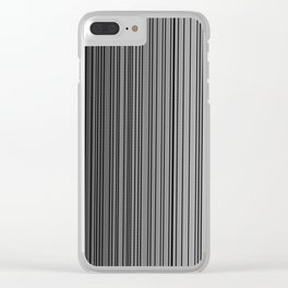 Sleek Gray Toned Stripes and Silvery Moon Clear iPhone Case