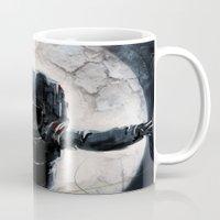 lunar Mugs featuring Lunar Figure  by Steve Panton