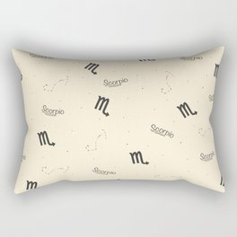 Scorpio Pattern - Beige Rectangular Pillow