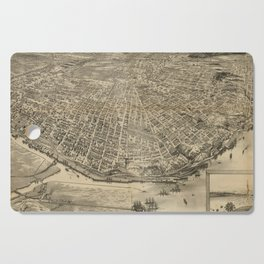 Vintage Pictorial Map of Tacoma WA (1893) Cutting Board