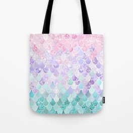Mermaid Pastel Iridescent Tote Bag