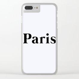 64. Paris Clear iPhone Case