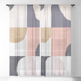 Geometric Moontime 1 Sheer Curtain