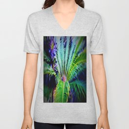 Tropical Plants and Flowers Unisex V-Neck